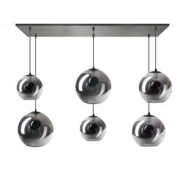 Speelse hanglamp met glazen bollen