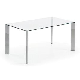 Glazen tafel met chroom