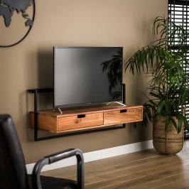 Hangend tv-meubel industrieel acacia