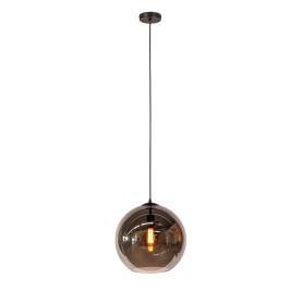 Hanglamp grijze glasbol