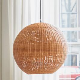 Ronde bol lamp van bamboe