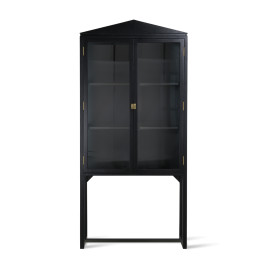 Design vitrinekast zwart