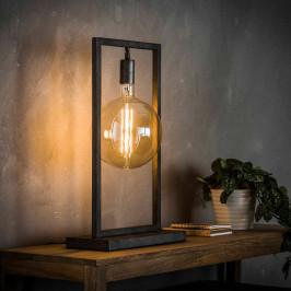 Industriële tafellamp met rechthoekig frame