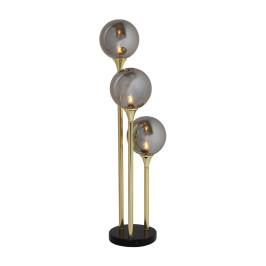 Gouden tafellamp met glas