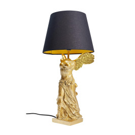 Gouden tafellamp engel