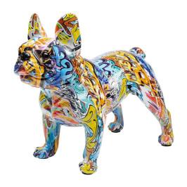 Kleurrijk bulldog beeld