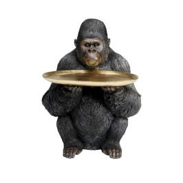 Gorilla beeld met dienblad