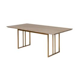 Design eettafel hout met koper