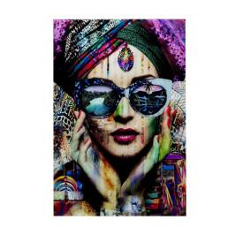 Glas schilderij kleurrijk