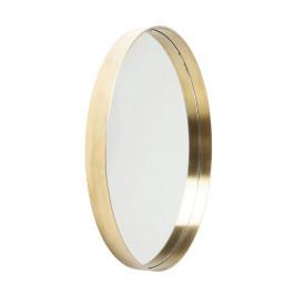 Ronde spiegel messing 60 cm