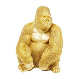 Gouden gorillafiguur