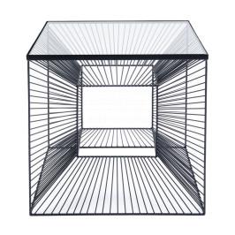Vierkante bijzettafel staaldraad