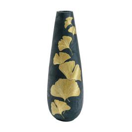 Zwarte vaas met goud 95 cm