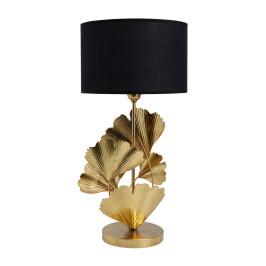 Gouden ginkgo tafellamp