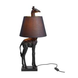 Zwarte giraffe lamp