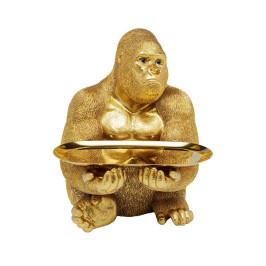 Gouden gorilla met dienblad