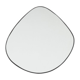 Zwarte design spiegel 90x93