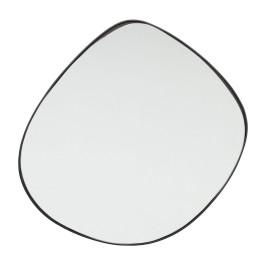 Zwarte design spiegel 71x71cm