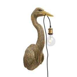 Gouden reiger wandlamp