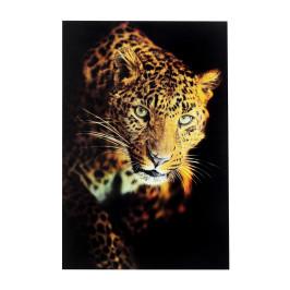 Glas schilderij panter 120x80