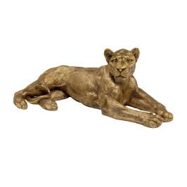 Liggende leeuw goud