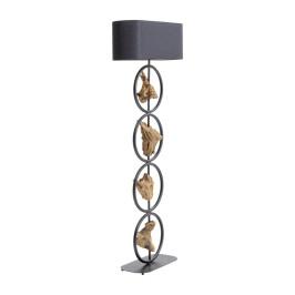 Zwarte vloerlamp drijfhout