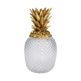 Ananas glas en goud