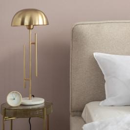 Gouden tafellamp met marmer