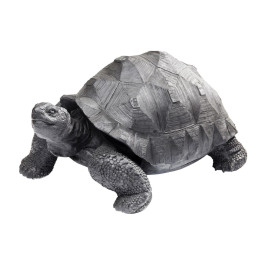 Zwarte deco schildpad