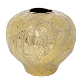 Design vaas goud 34 cm