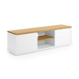 Wit tv-meubel met eiken 150 cm