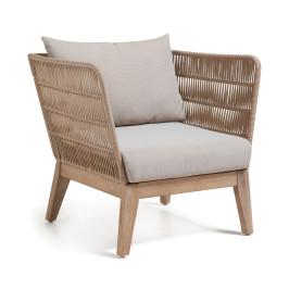 Tuin lounge stoel bruin