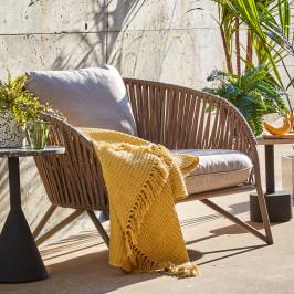 Buitenstoel met bruin touw