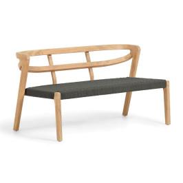 Bankje van gebogen hout