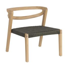 Lounge stoel hout met touw