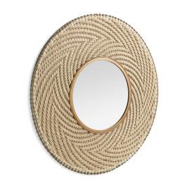 Ronde spiegel met touwrand