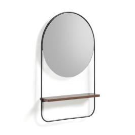 Ronde spiegel met plankje