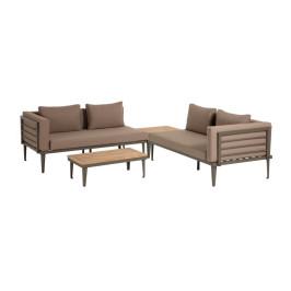 Aluminium loungeset bruin