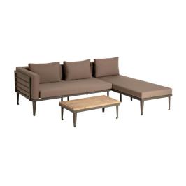 Bruine loungeset van metaal