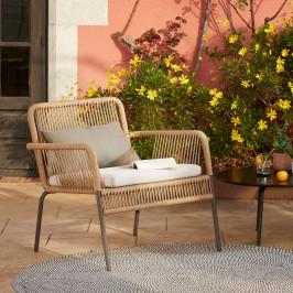 Tuin loungestoel van touw