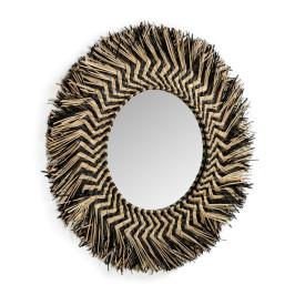 Ronde spiegel van riet