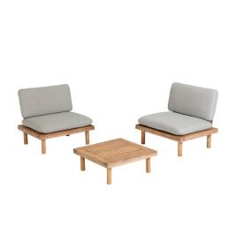 Houten loungestoelen met tafel