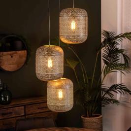 Metalen hanglamp met gaatjes