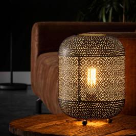 Metalen tafellamp met gaatjes