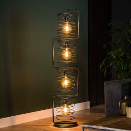 Metalen vloerlamp met metaaldraad