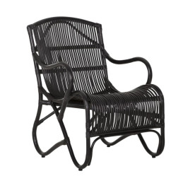 Bohemian fauteuil zwart rotan