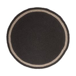 Rond zwart vloerkleed 150 cm