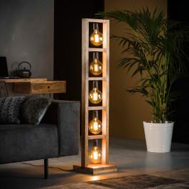 Robuuste vloerlamp van hout