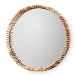 Spiegel met teakhout