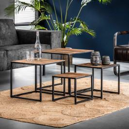 Set van 4 vierkante salontafels